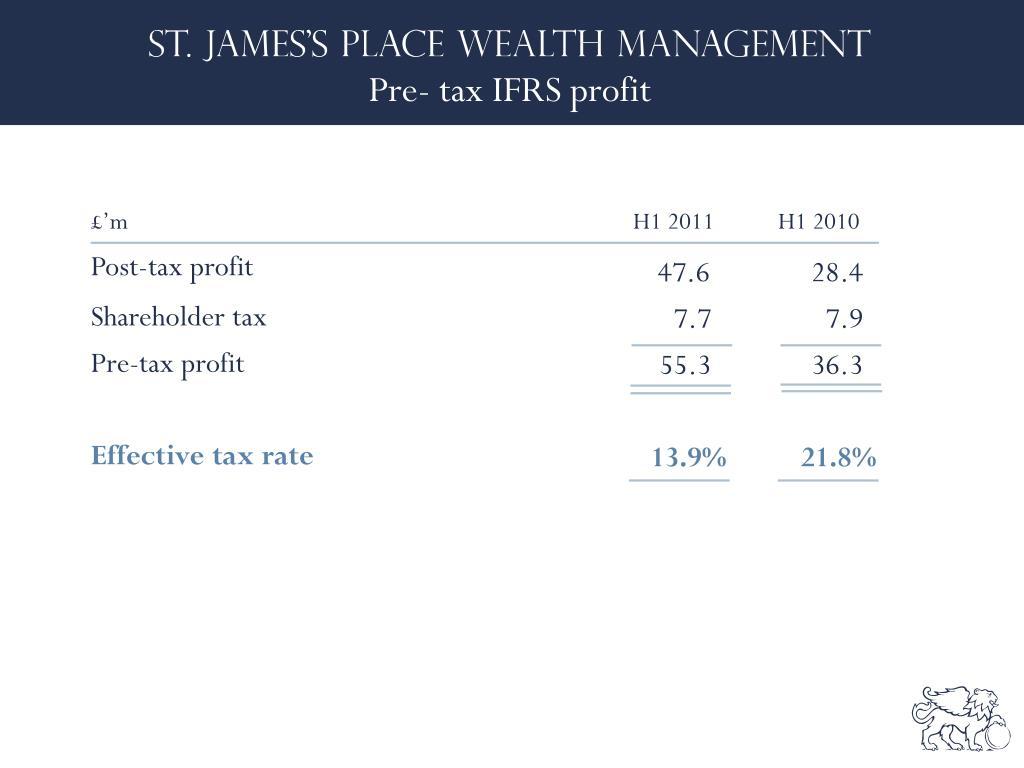 Pre- tax IFRS profit