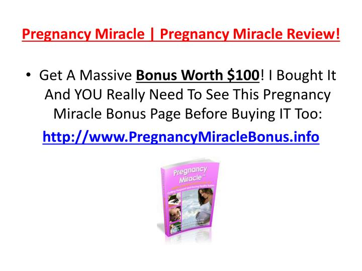 Pregnancy miracle pregnancy miracle review