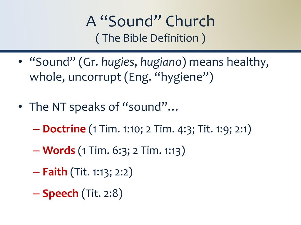 "A ""Sound"" Church"
