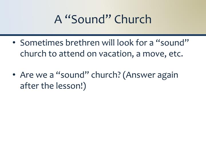 A sound church2