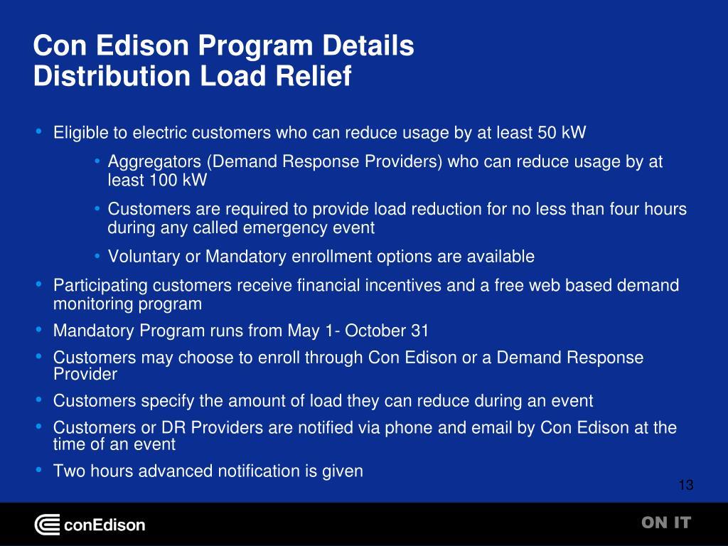 Con Edison Program Details