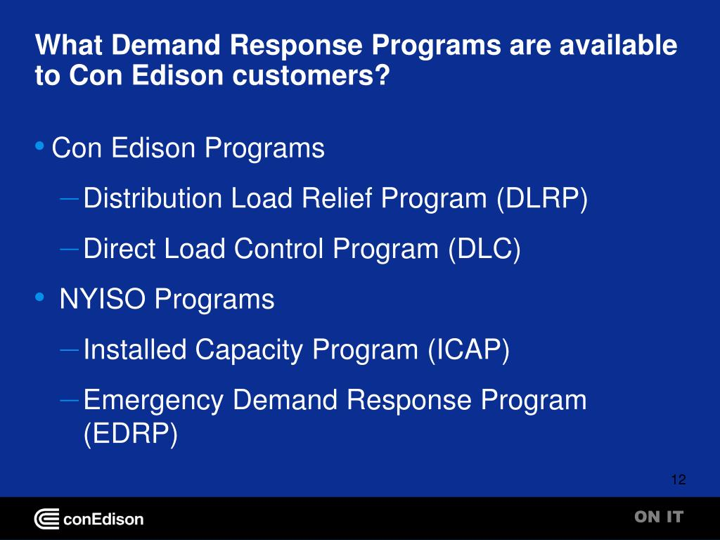 What Demand Response Programs are available to Con Edison customers?