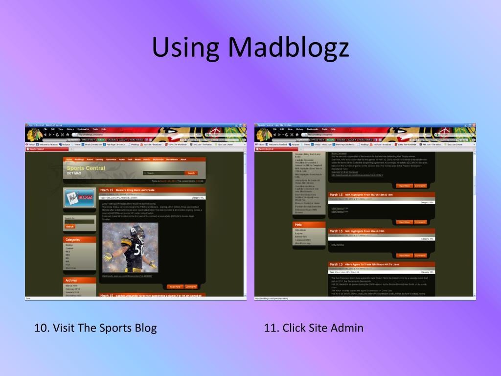 Using Madblogz