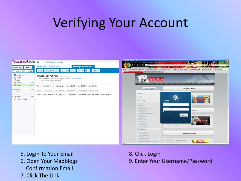 Verifying Your Account
