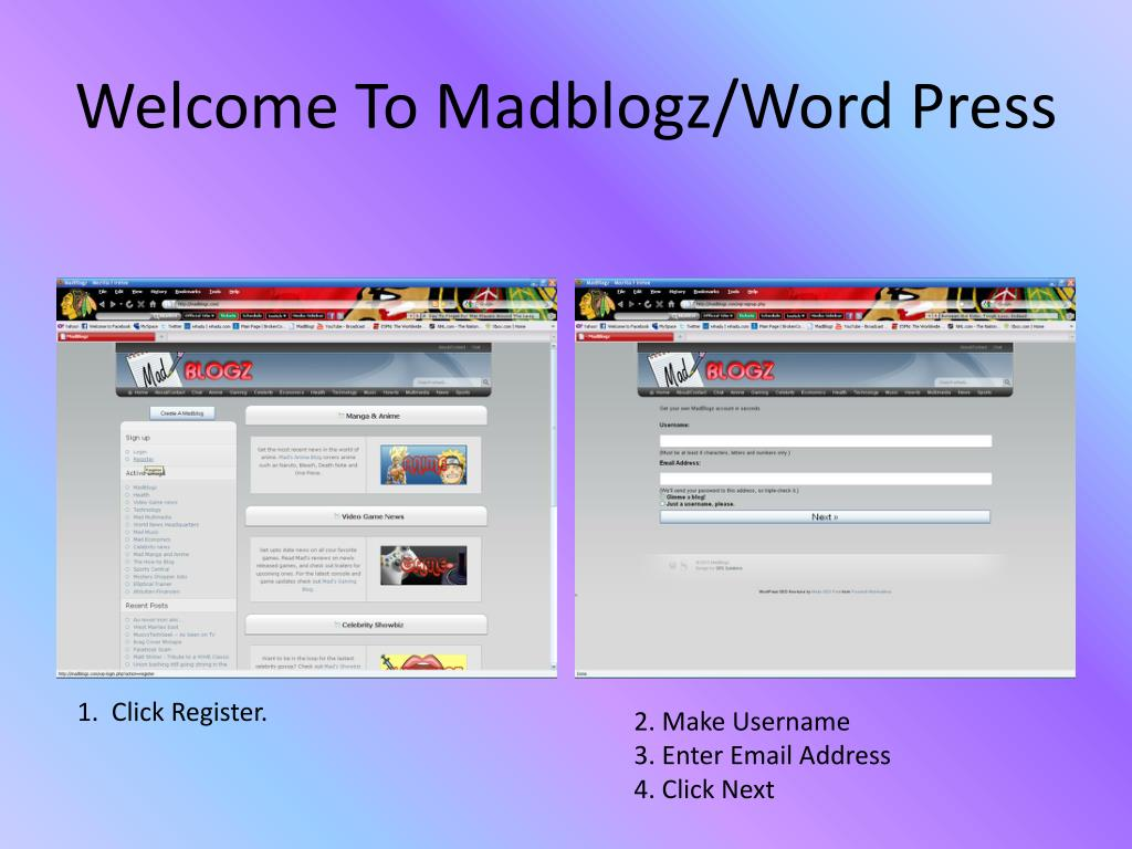 Welcome To Madblogz/Word Press