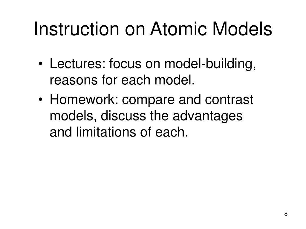 Instruction on Atomic Models