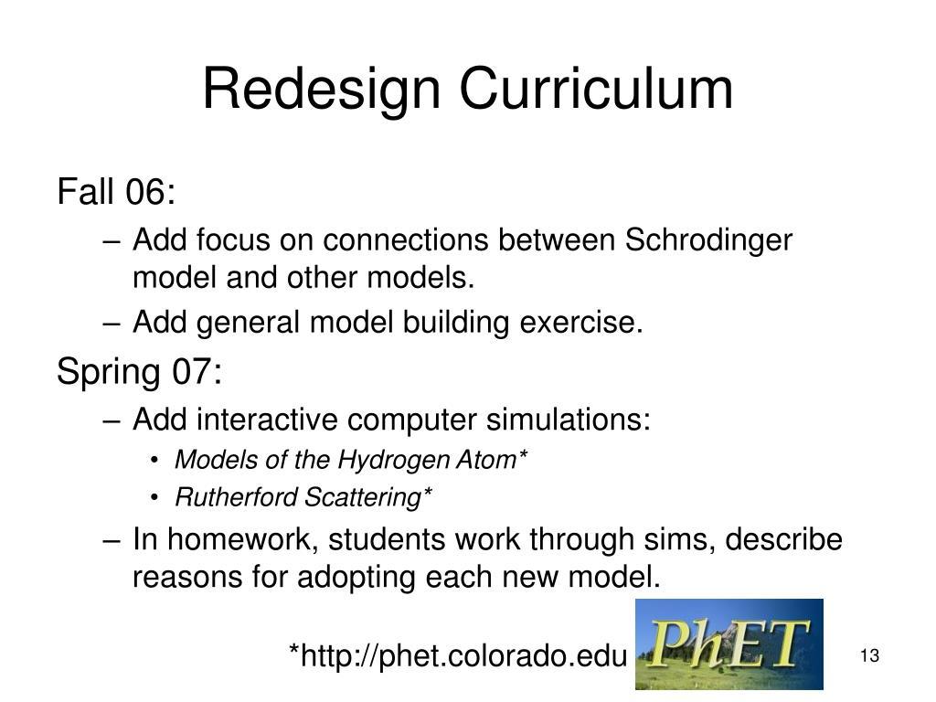 Redesign Curriculum