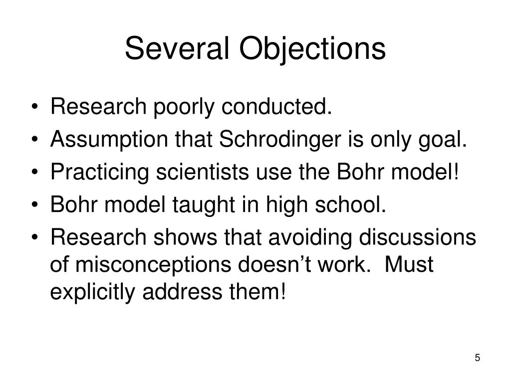 Several Objections