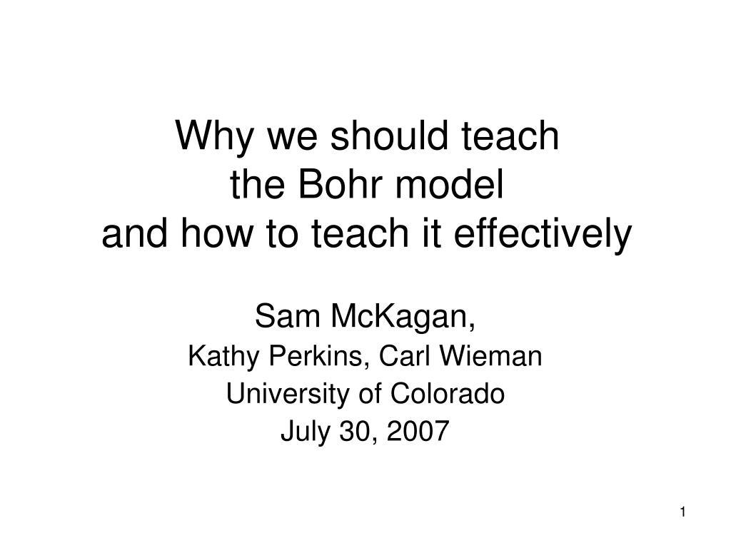 Why we should teach