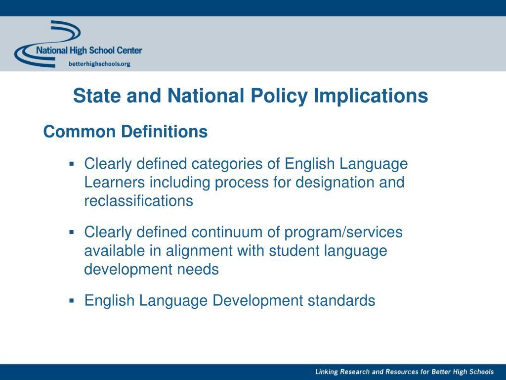 Alignment academic standards ell proficiency standards essay