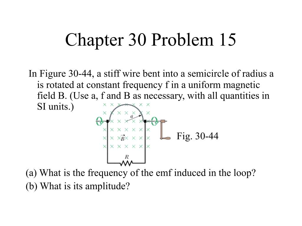 Chapter 30 Problem 15