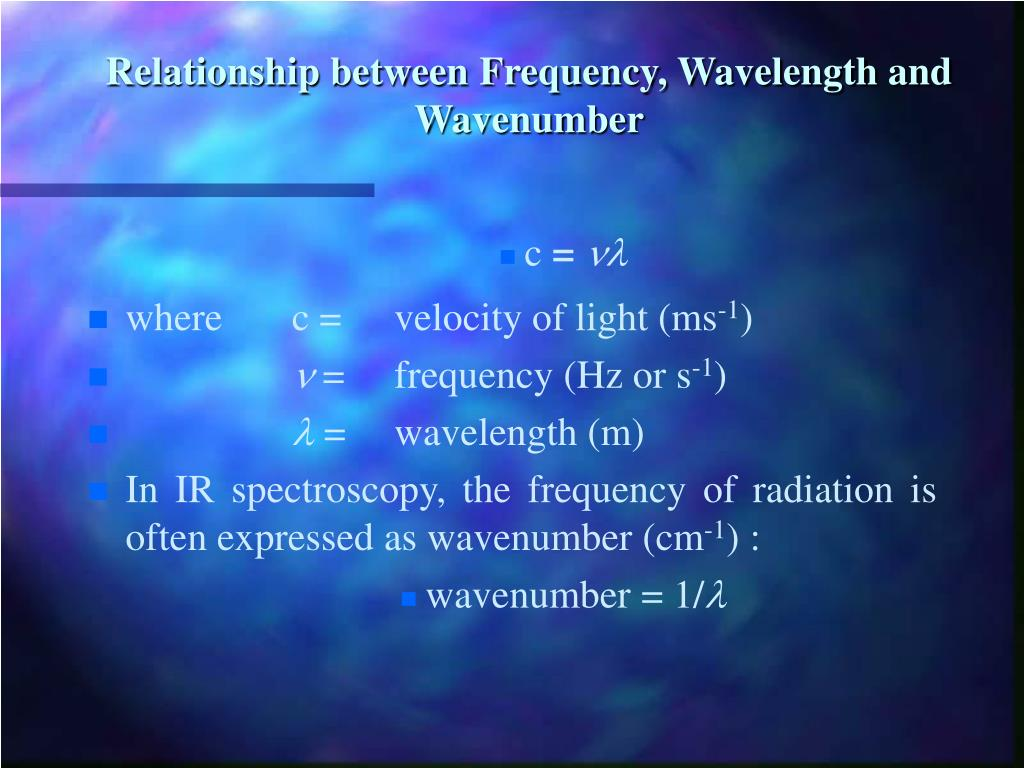quantify the relationship between velocity frequency and wavelength