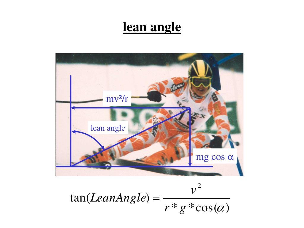 lean angle