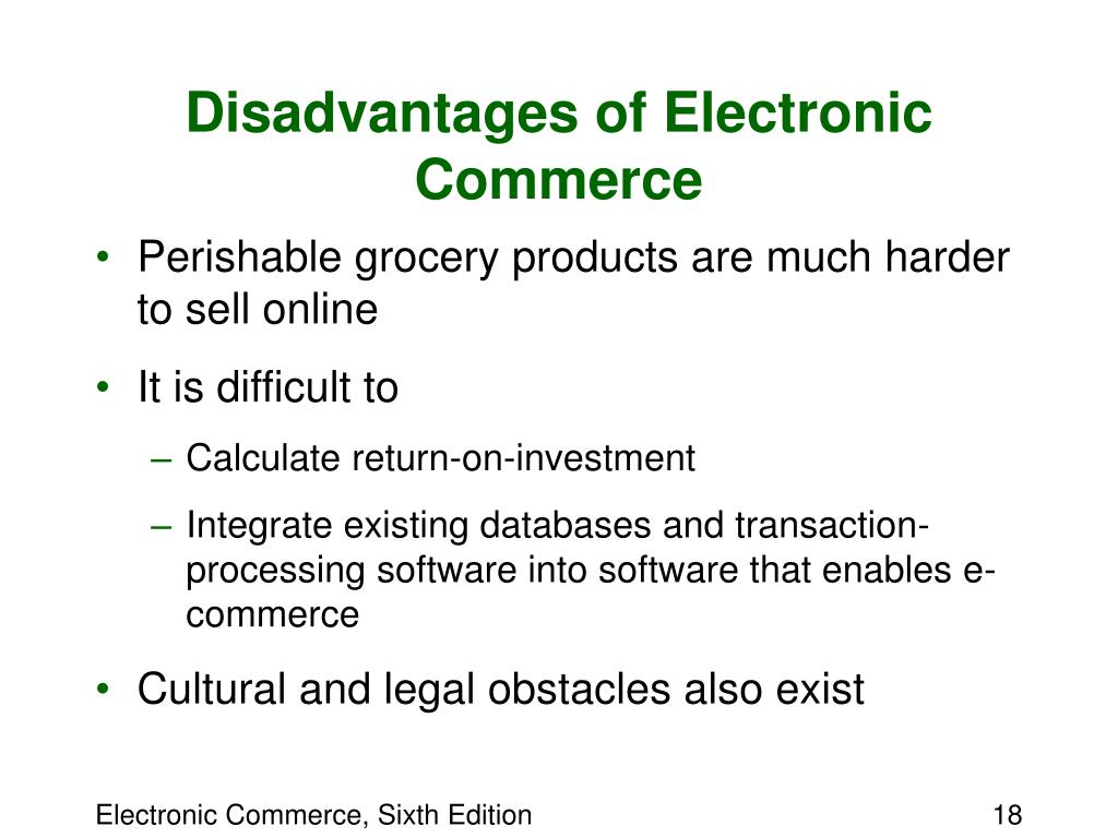an analysis of the characteristics advantages and disadvantages of electronic commerce For an analytical tool that can do so much, that's great nothing  yes, despite  how great it is, google analytics does have some drawbacks.