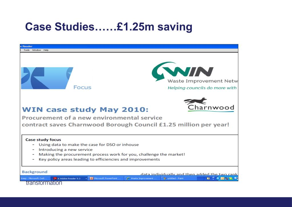 Case Studies……£1.25m saving