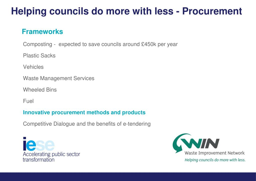 Helping councils do more with less - Procurement