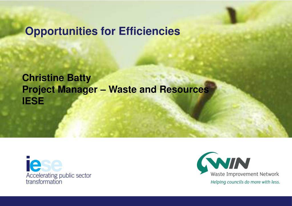 Opportunities for Efficiencies