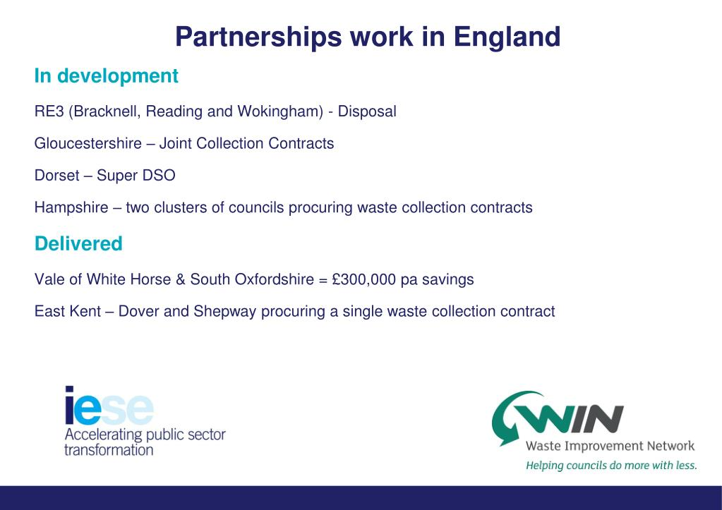 Partnerships work in England