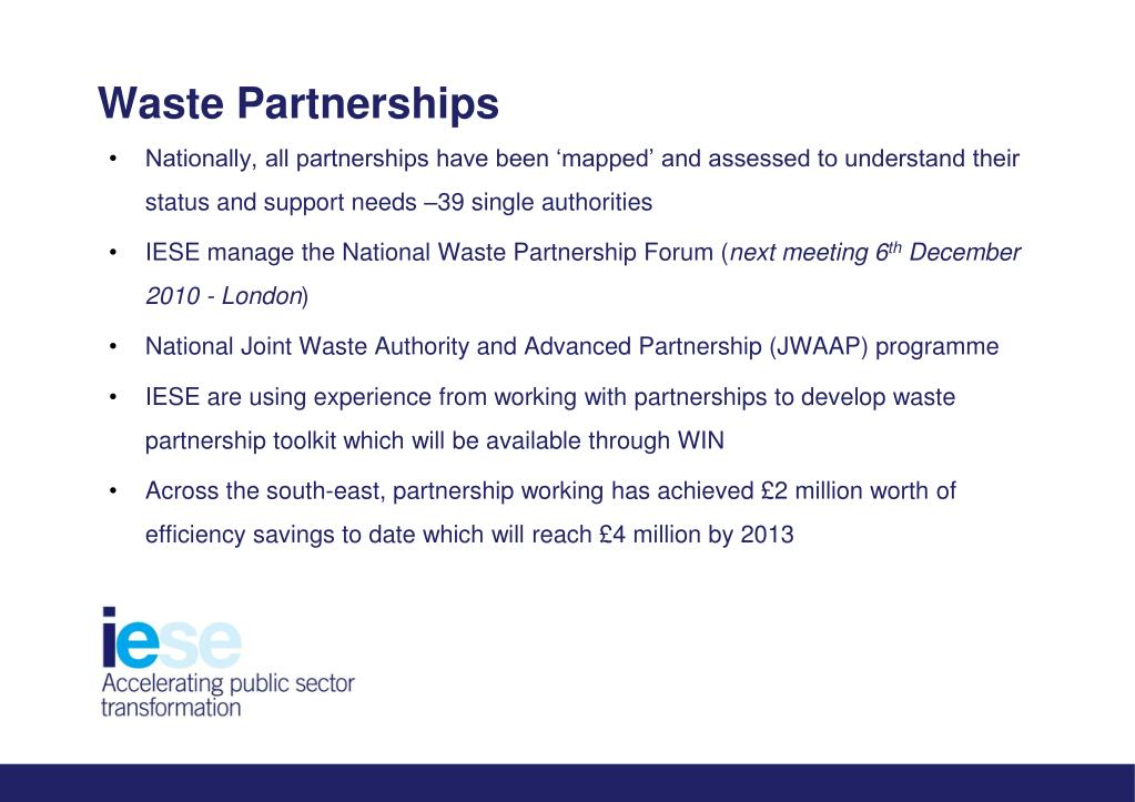 Waste Partnerships