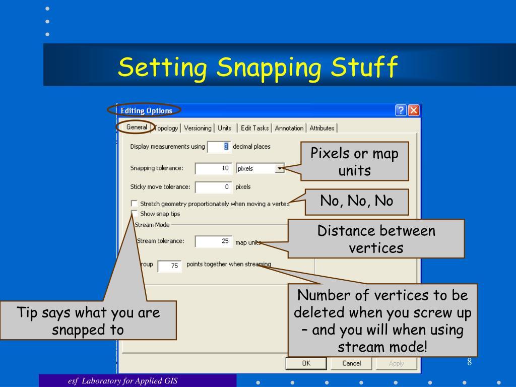 Setting Snapping Stuff