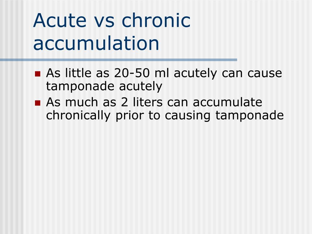 Acute vs chronic accumulation