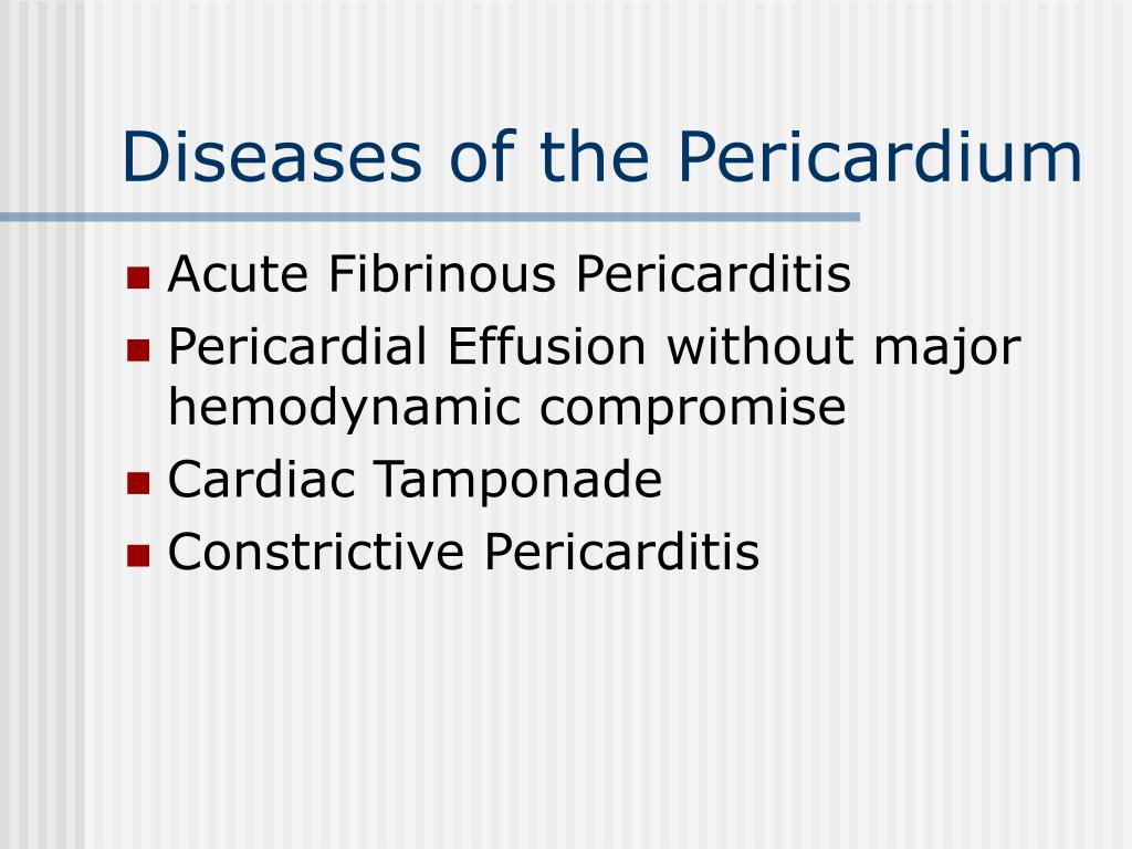 Diseases of the Pericardium