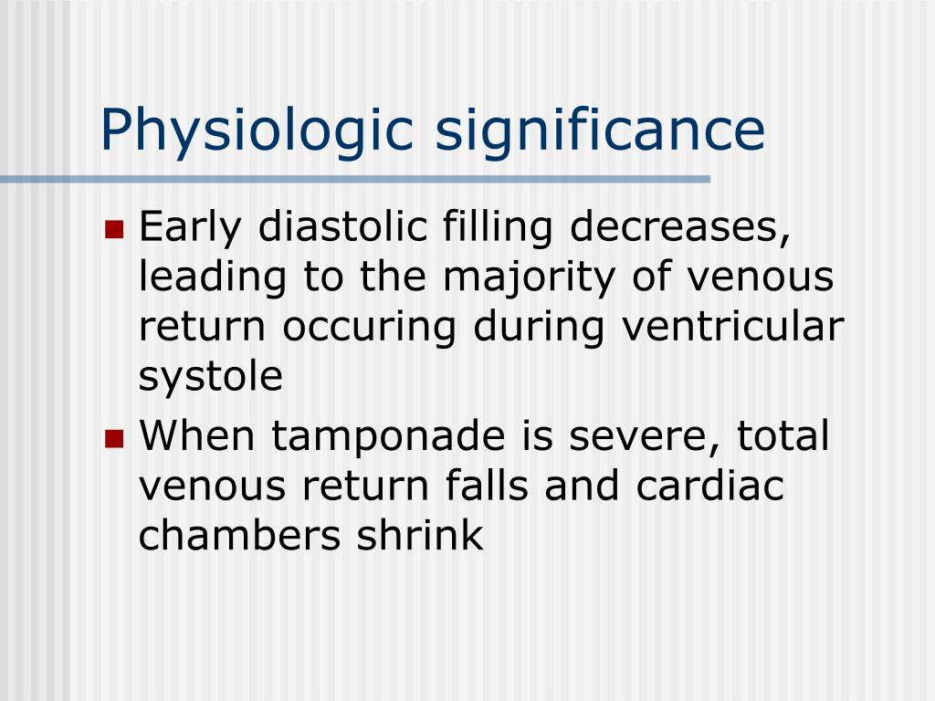 Physiologic significance