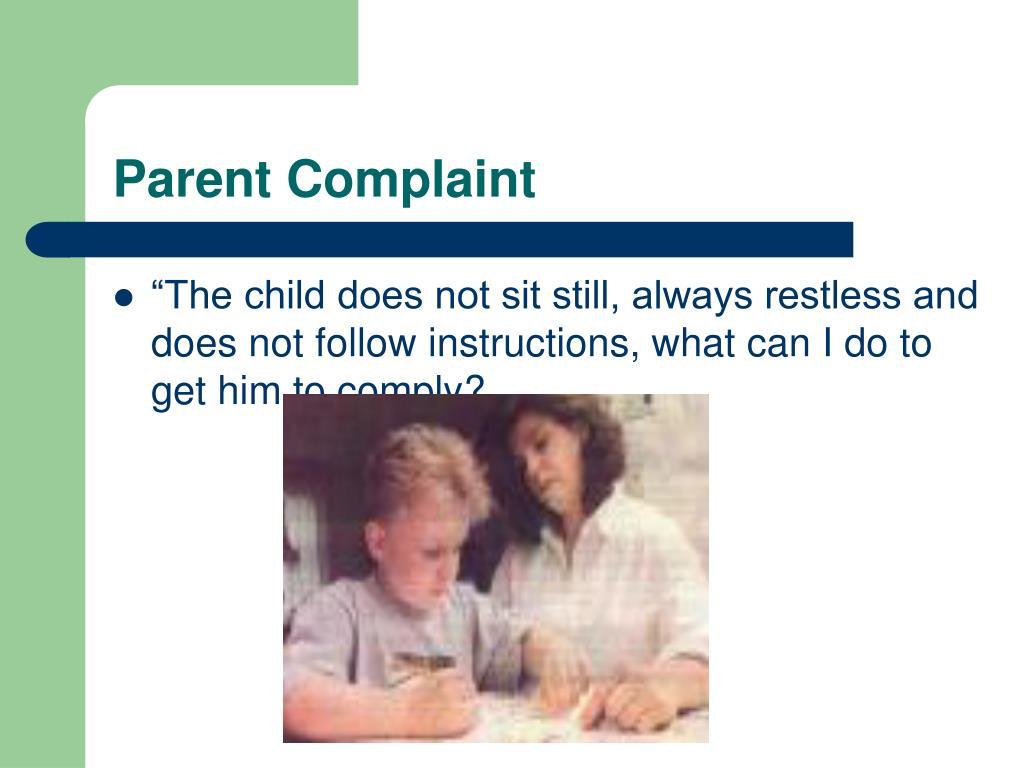 Parent Complaint