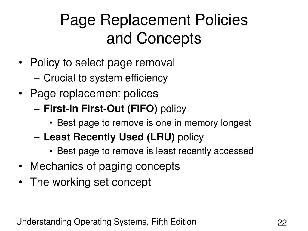 Page Replacement Policies