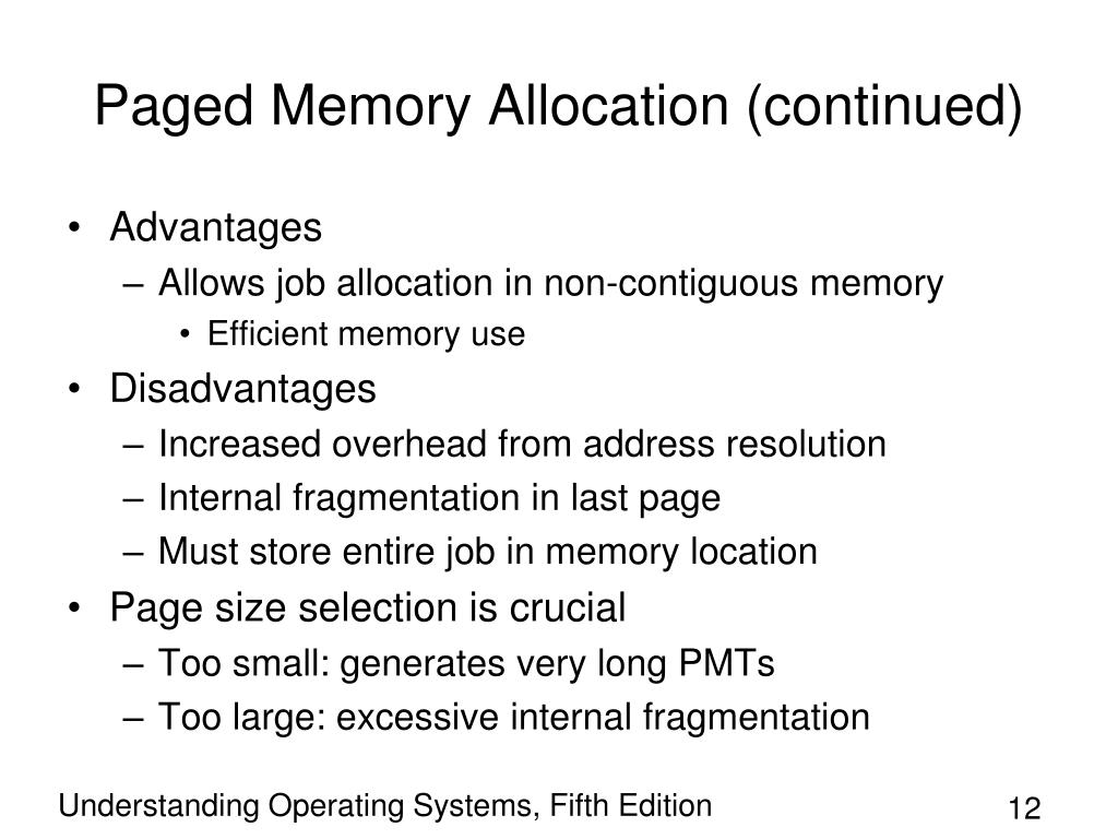 Paged Memory Allocation