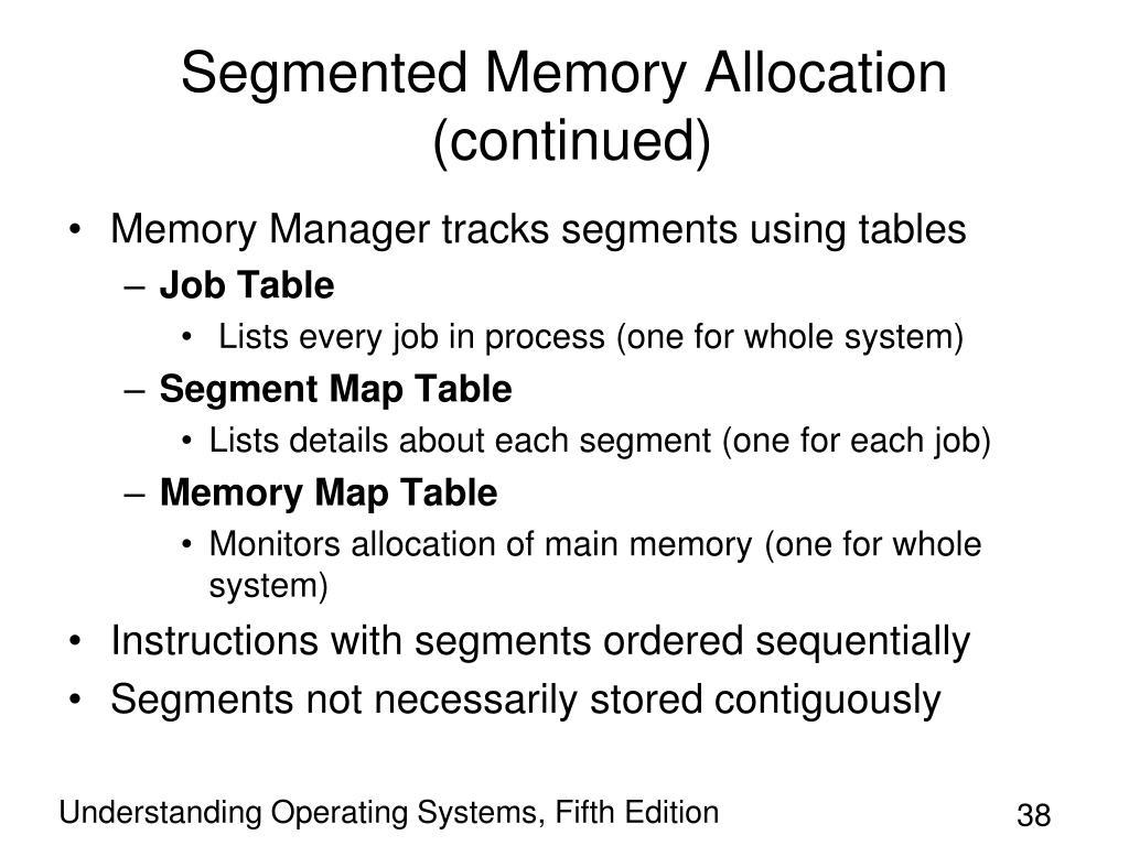 Segmented Memory Allocation