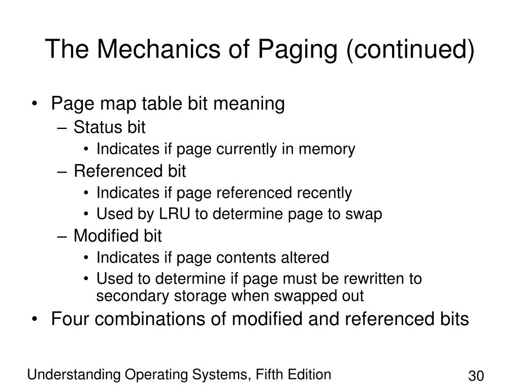 The Mechanics of Paging (continued)