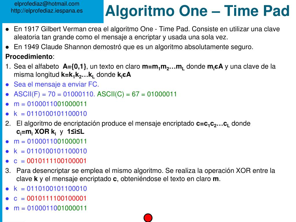 Algoritmo One – Time Pad