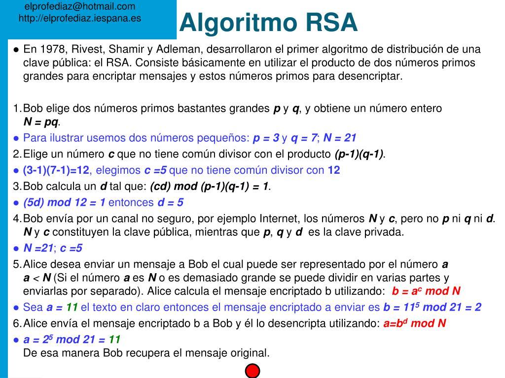 Algoritmo RSA