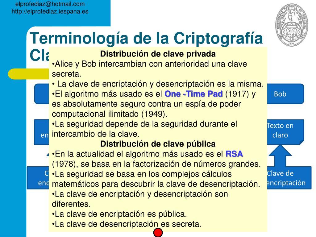 Terminología de la Criptografía Clásica