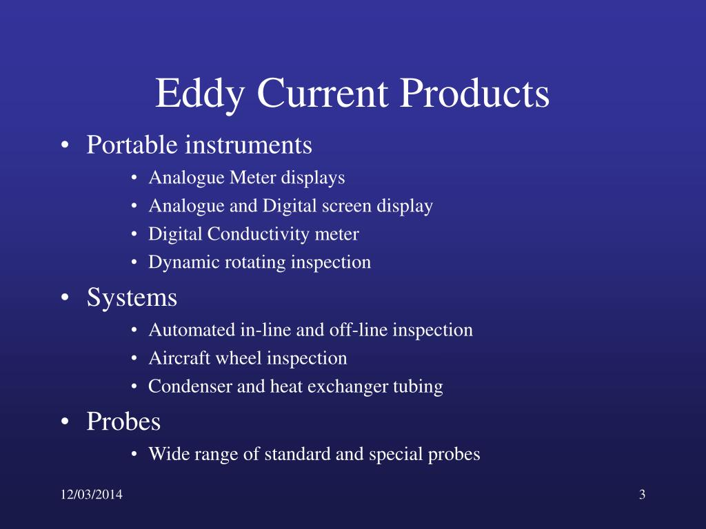 Eddy Current Analog : Ppt inspecting with eddy currents powerpoint