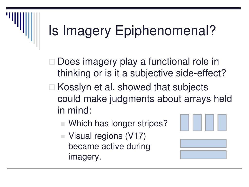 Is Imagery Epiphenomenal?