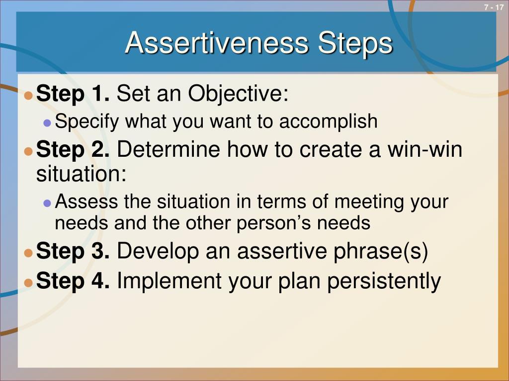 Assertiveness Steps