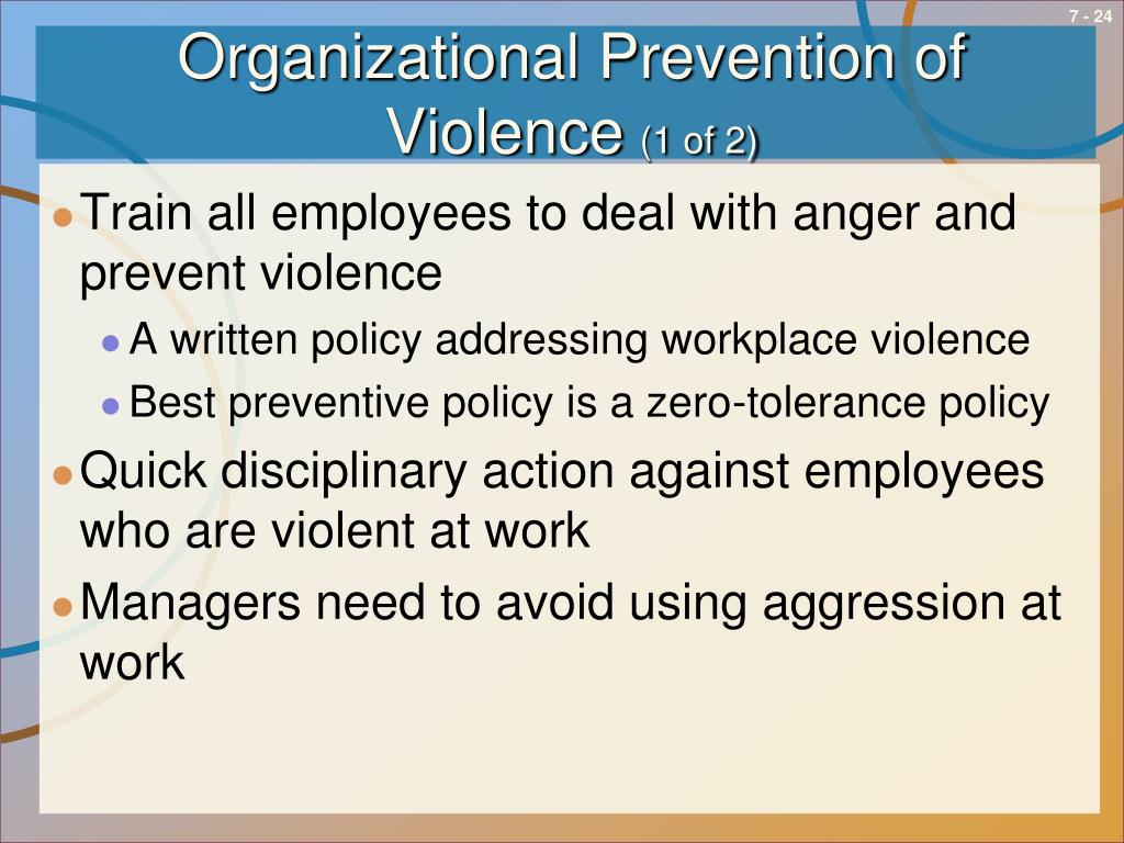 Organizational Prevention of Violence