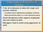 organizational prevention of violence 1 of 2