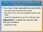 your personality and interpersonal dynamics 2 of 3