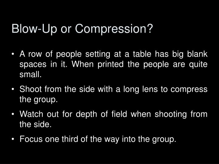 Blow-Up or Compression?