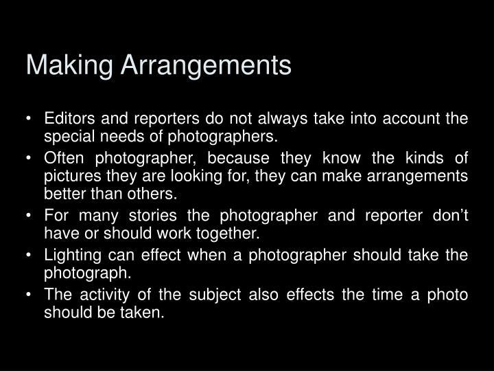 Making Arrangements