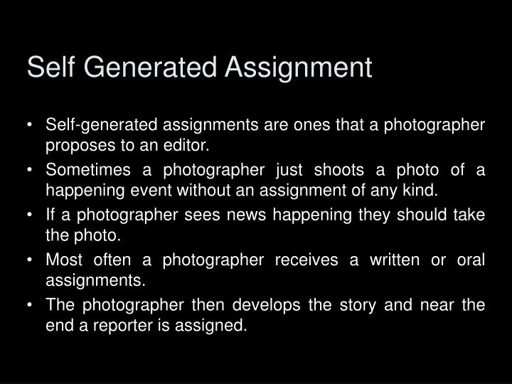 Self Generated Assignment