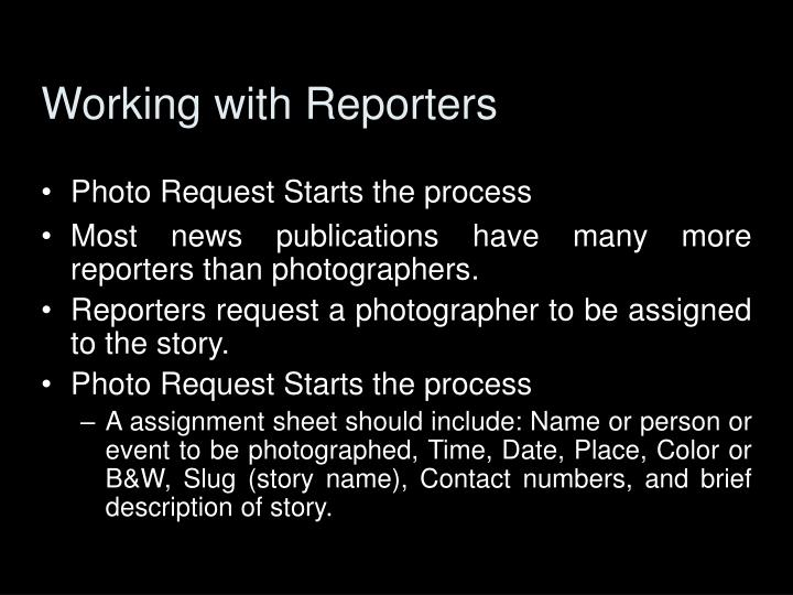 Working with Reporters