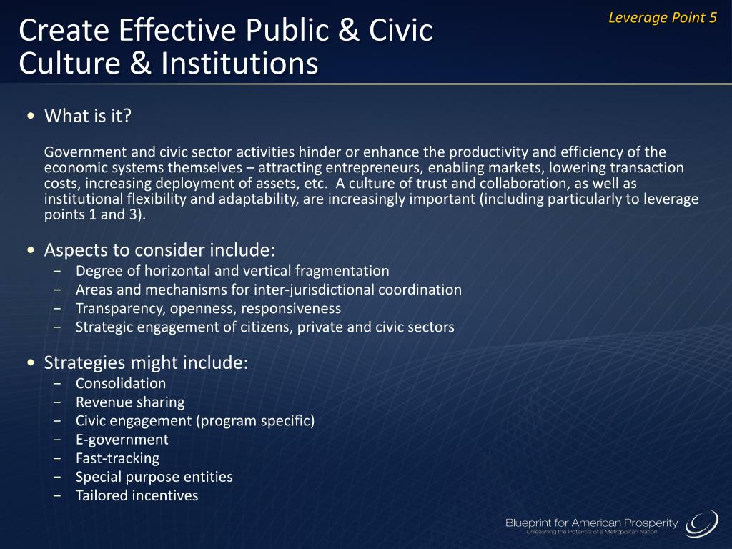 Create Effective Public & Civic