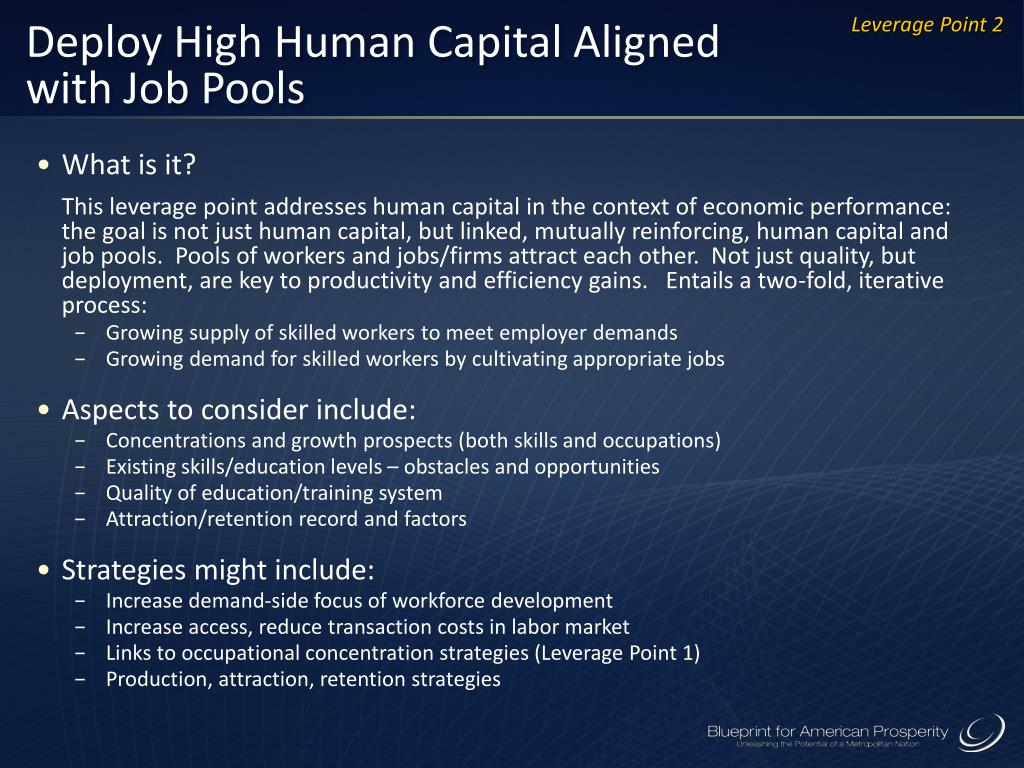 Deploy High Human Capital Aligned