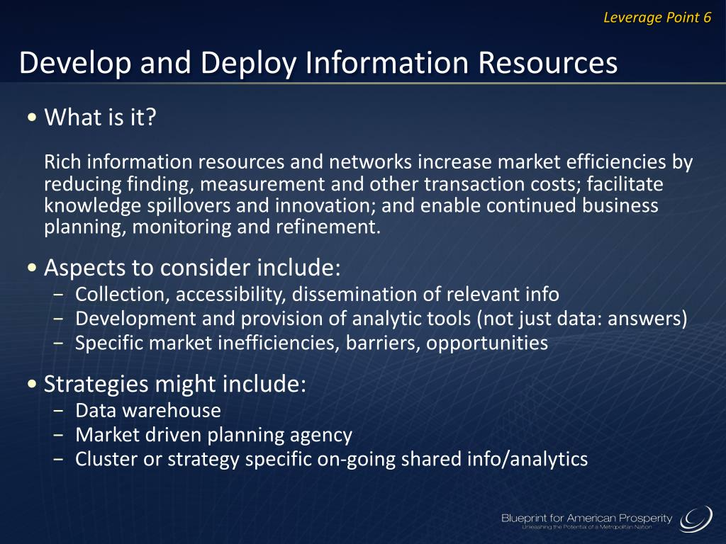 Develop and Deploy Information Resources