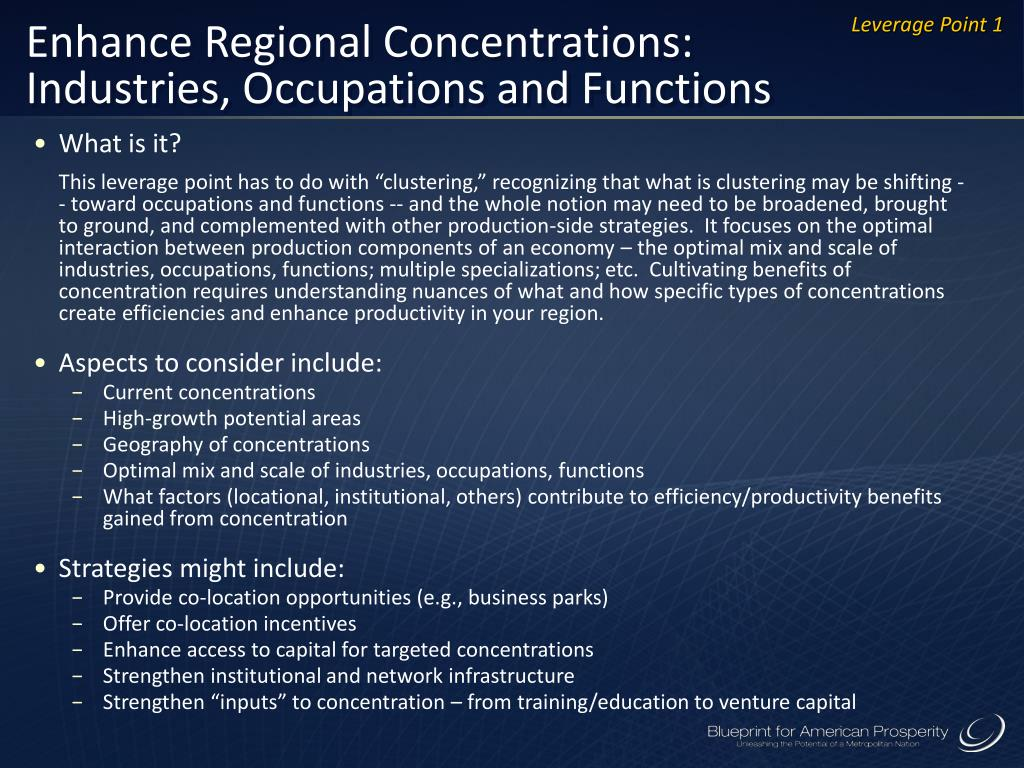 Enhance Regional Concentrations: