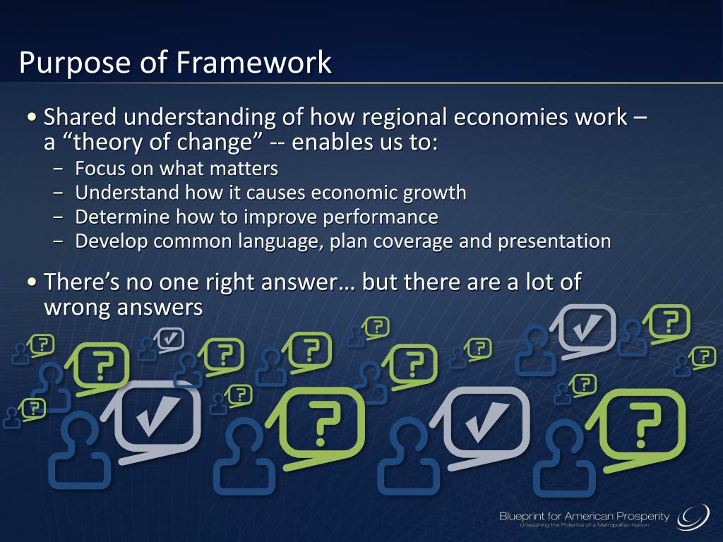 Purpose of Framework